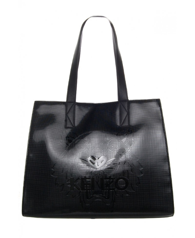 Kenzo Large Metallic Tiger Tote Bag in Black | Lyst