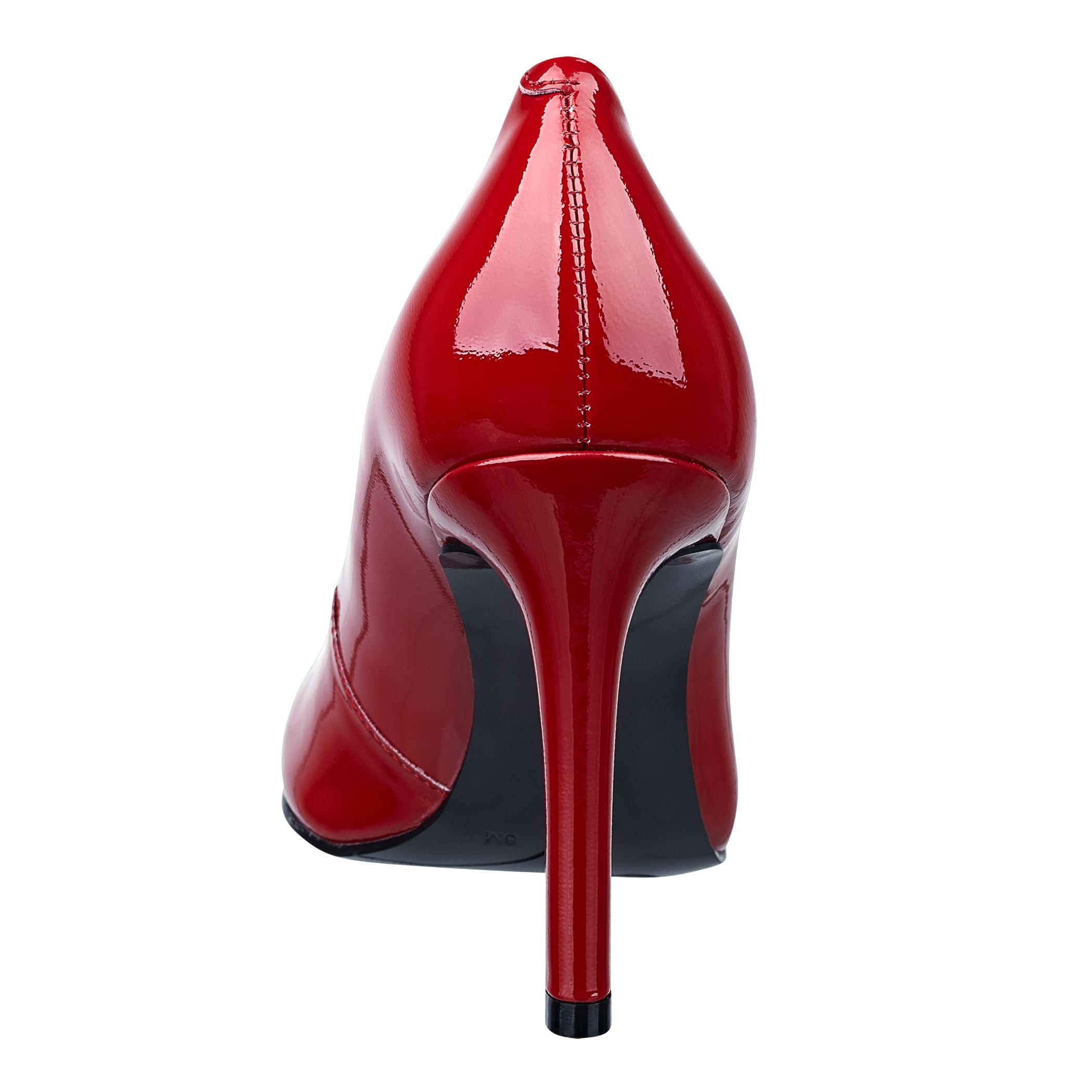 7fffa405c Nine West Caress Round Toe Pump in Red - Lyst