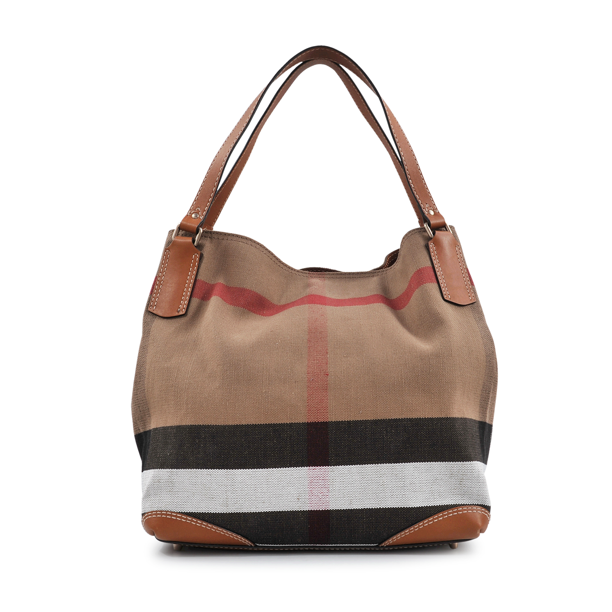 db43f2a373e1 Lyst - Burberry Sm Maidstone Brit Canvas Bag in Brown