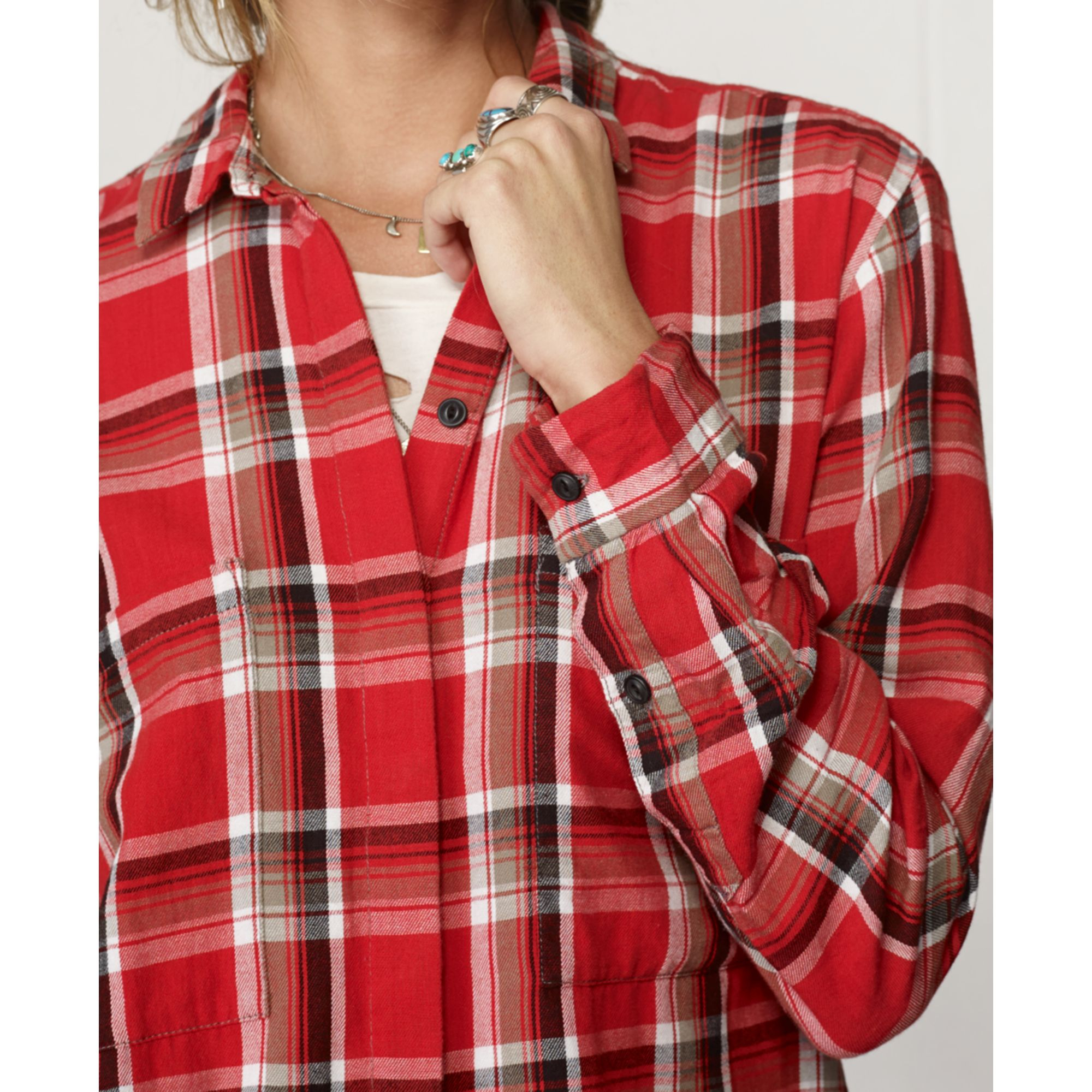 Lyst Denim Supply Ralph Lauren Plaid Flannel Shirt In Red