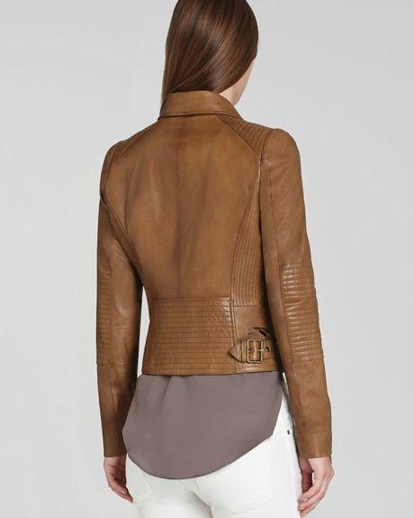 Bcbgmaxazria Bcbg Max Azria Jacket Tara Leather Moto in Brown (Luggage