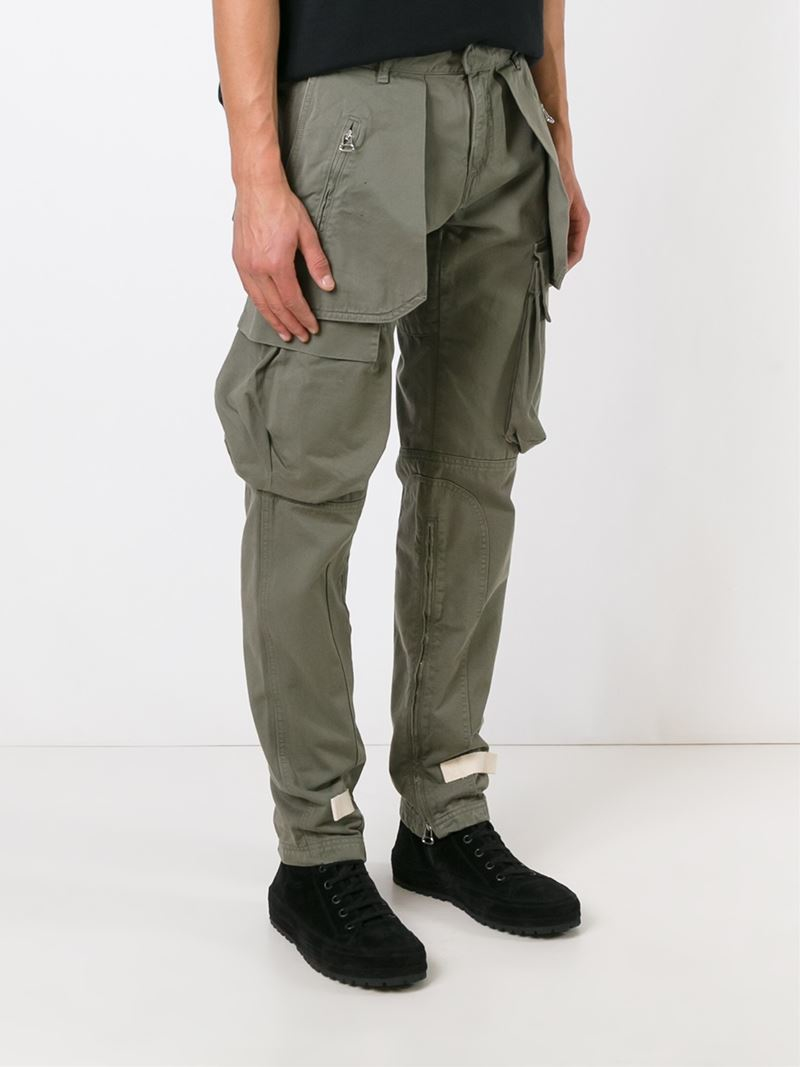 white cargo pants lyst white c o virgil abloh stylised cargo trousers 28642