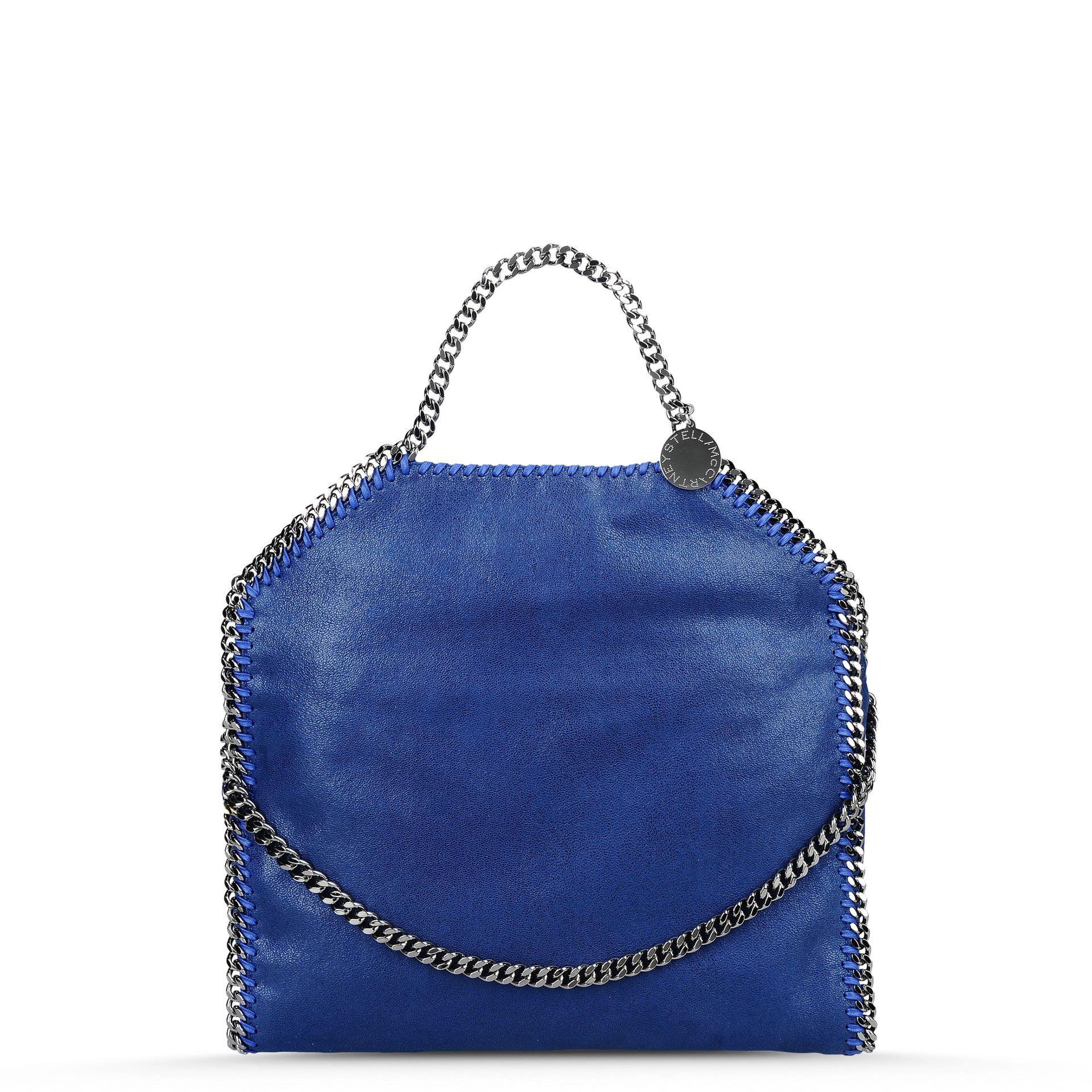 20e19b83172 ... Lyst - Stella mccartney Blue Falabella Shaggy Deer Fold ... Stella  Mccartney Blue Bags ...