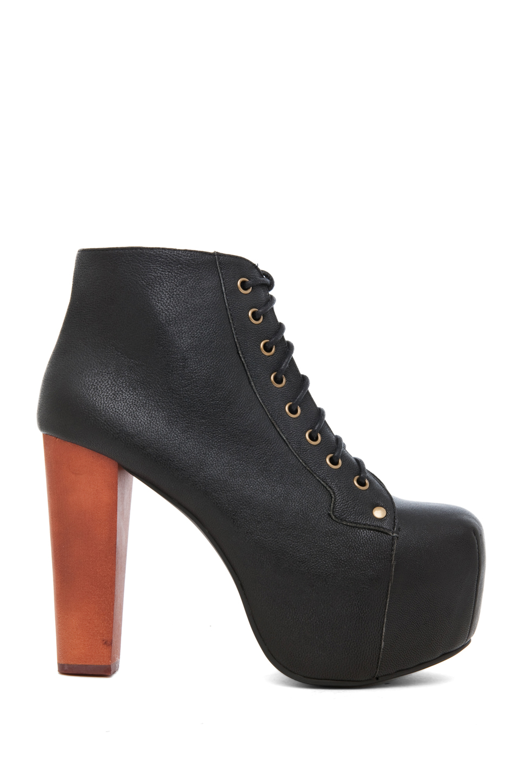 jeffrey campbell lita platform lace up boot in black lyst. Black Bedroom Furniture Sets. Home Design Ideas