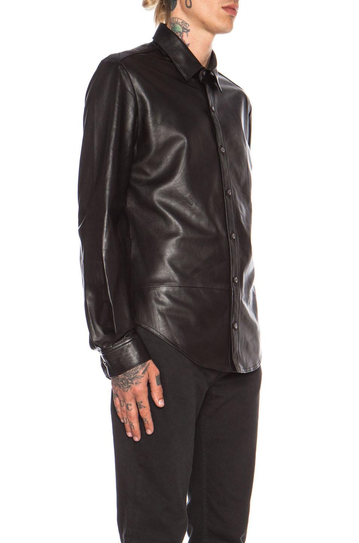 Blk denim leather jacket