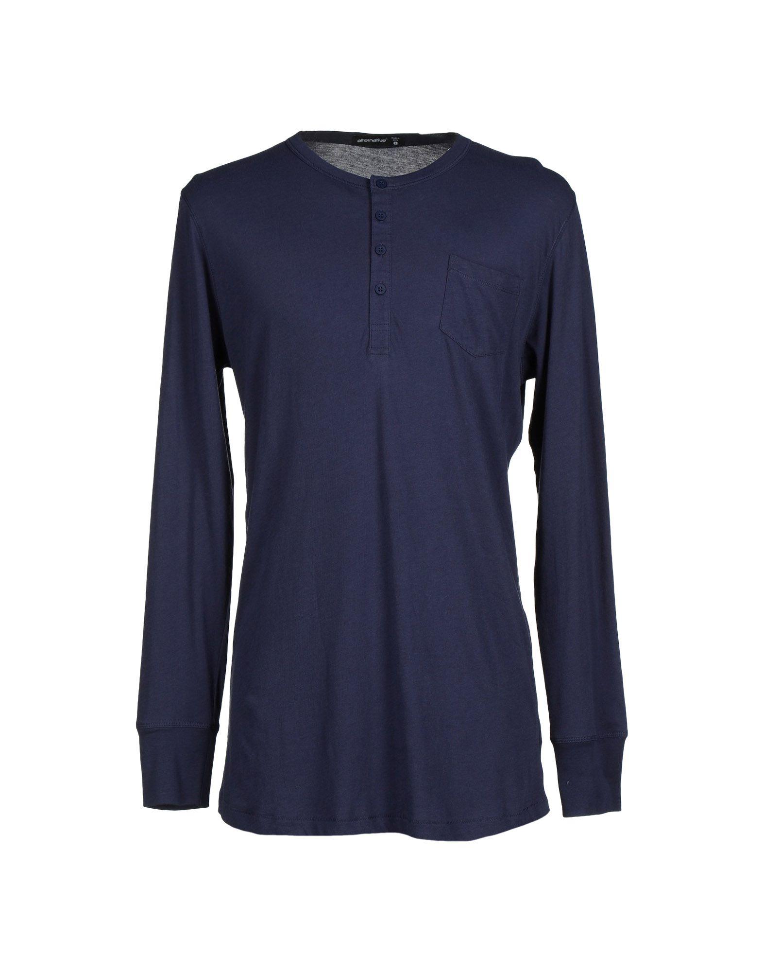 Alternative apparel t shirt in blue for men dark blue lyst for T shirt dark blue