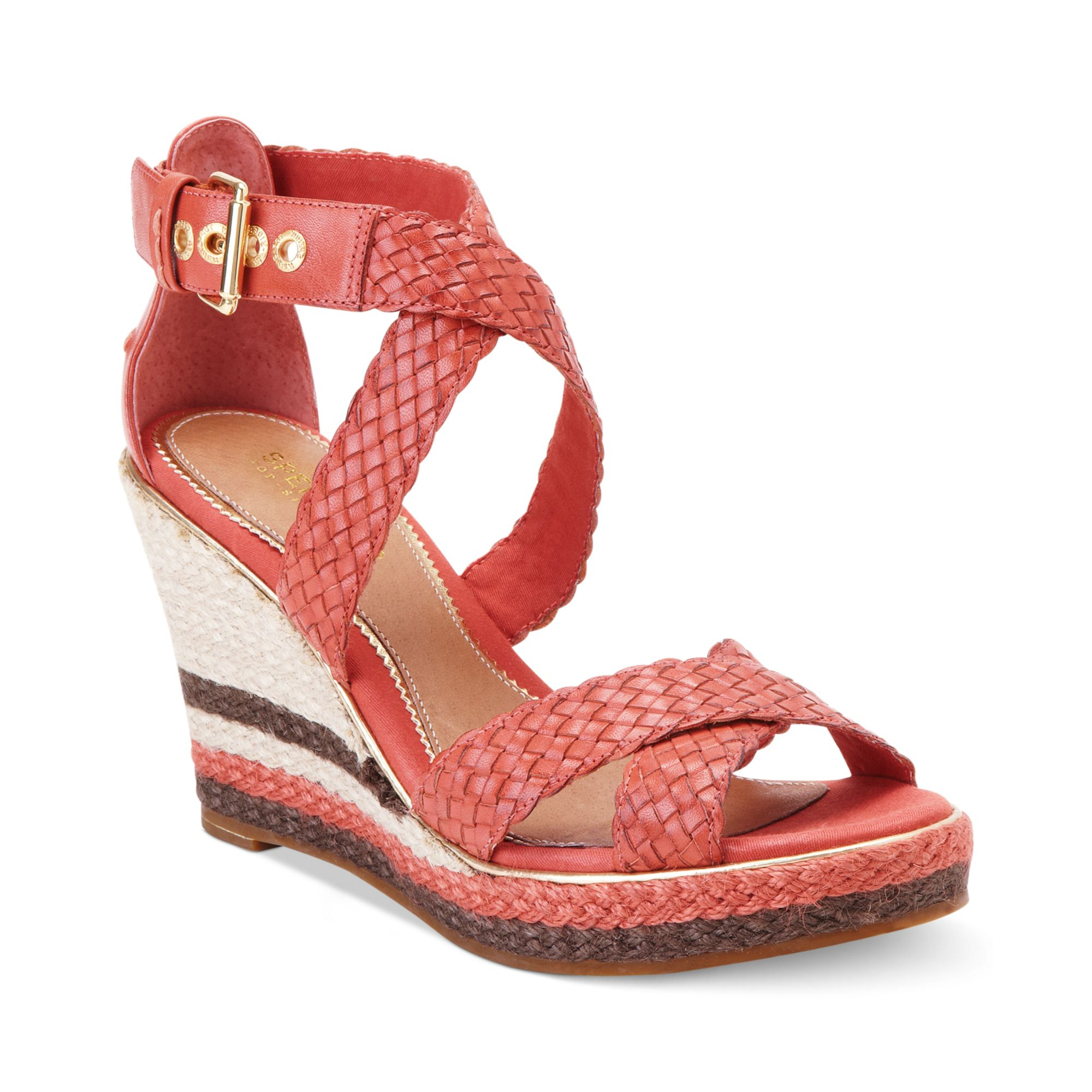 sperry top sider womens harbordale platform wedge sandals
