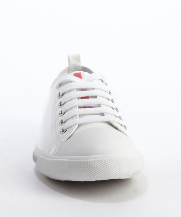 sale get to buy Prada Men's White Leather Sneakers sale excellent buy cheap store free shipping Inexpensive F8aeEM52i