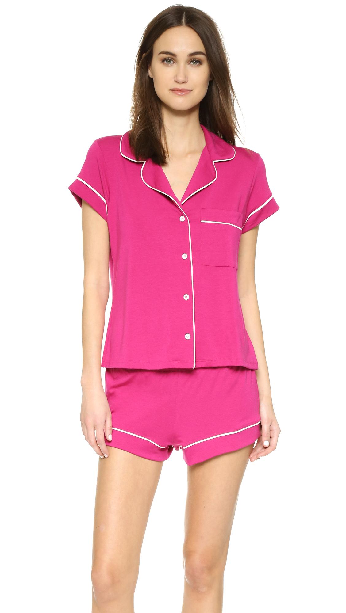 8be120a2c7 Eberjey Gisele Short Pj Set in Pink - Lyst