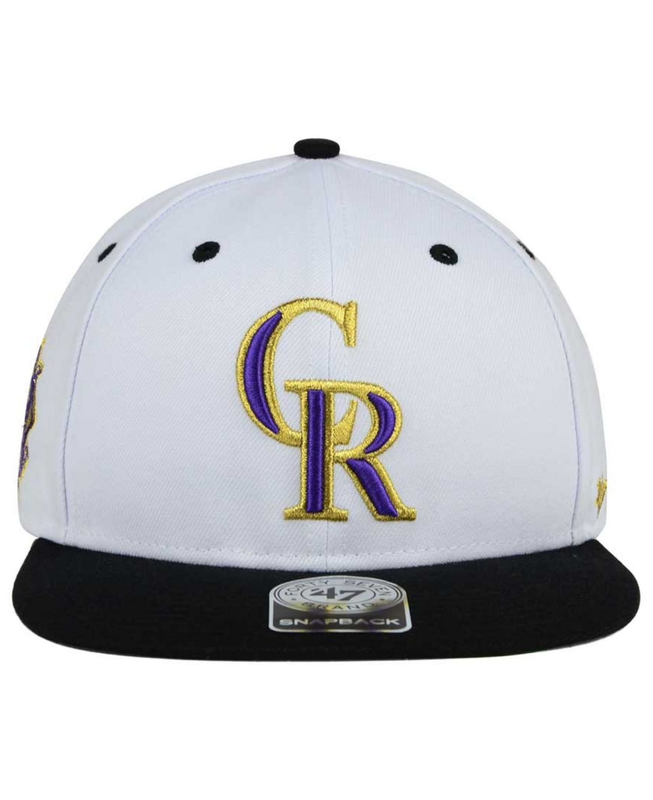 online store 2851a ed993 ... czech lyst 47 brand colorado rockies gold rush snapback cap in black  for men 90967 e3b4c