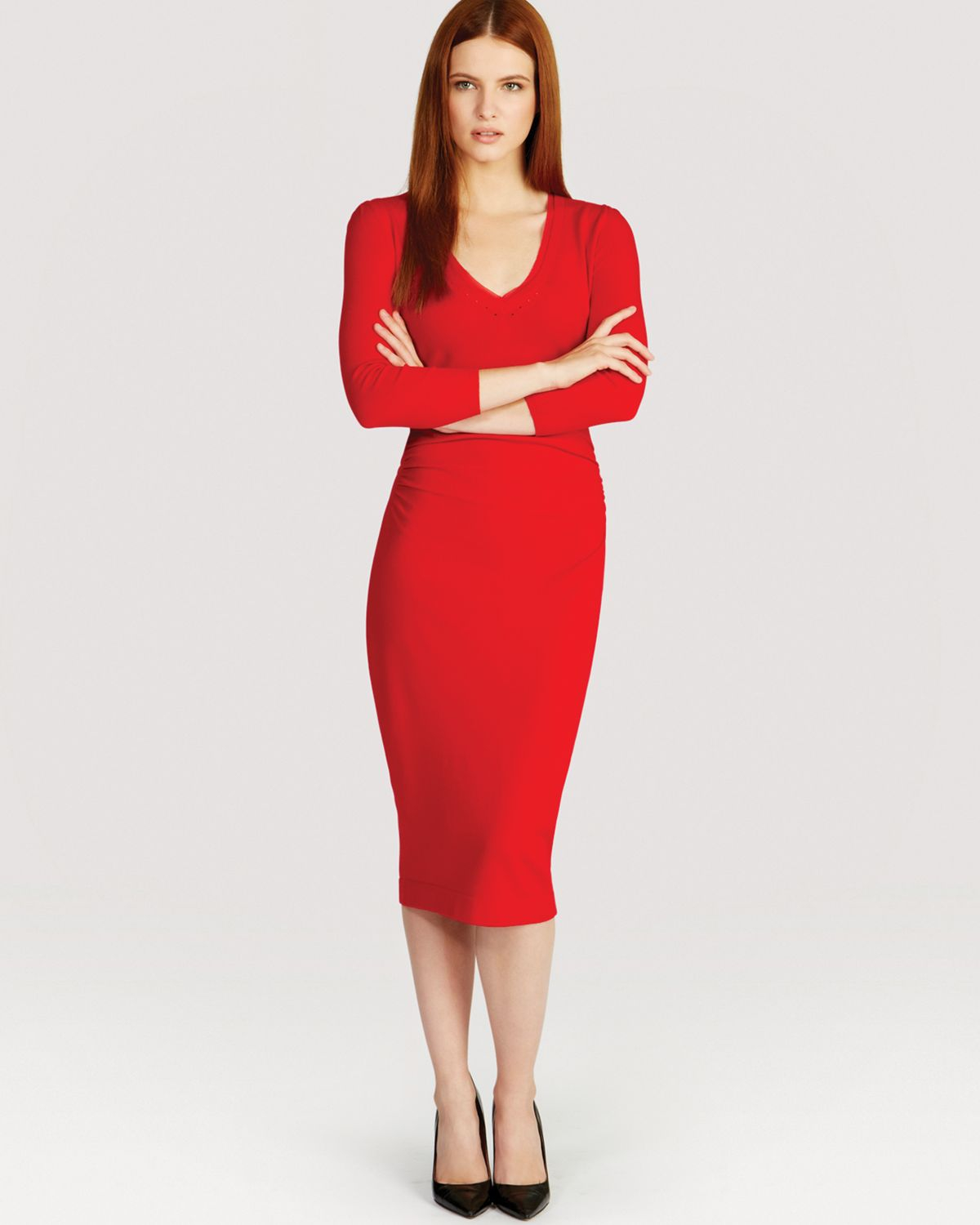 Coast Knit Dress Taite in Red  Lyst