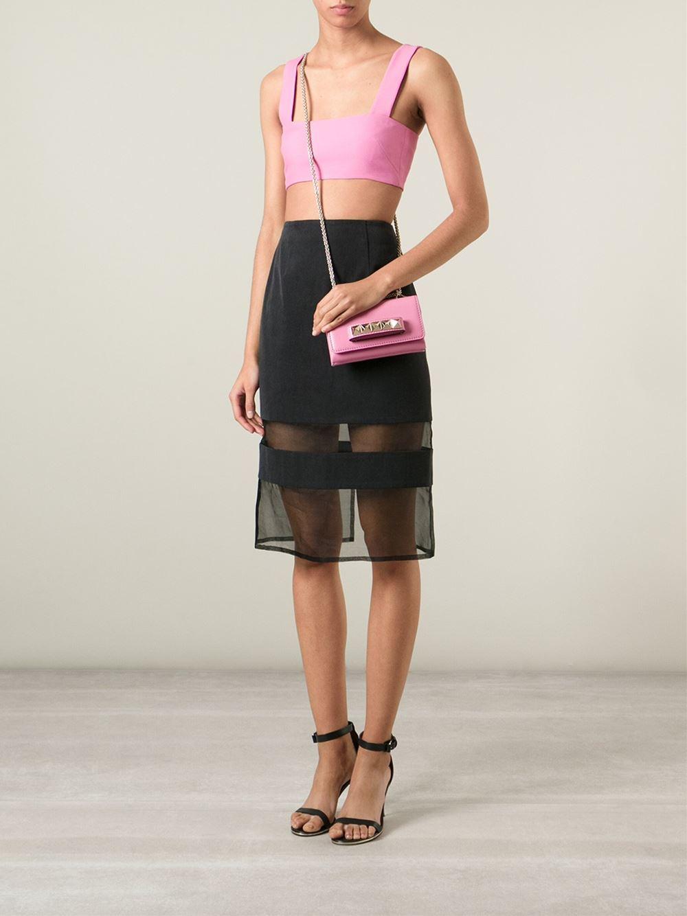 lyst valentino 39 va va voom 39 shoulder bag in pink. Black Bedroom Furniture Sets. Home Design Ideas
