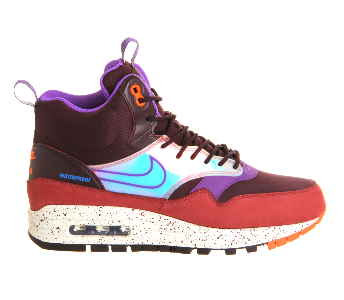 lyst nike air max 1 mid sneakerboots in purple. Black Bedroom Furniture Sets. Home Design Ideas