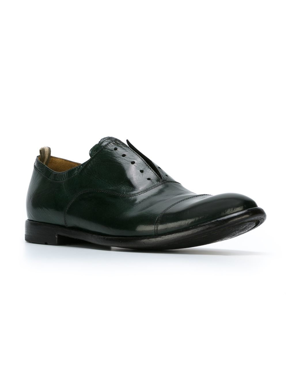 Lyst - Officine Creative Laceless Oxford Shoes In Green For Men