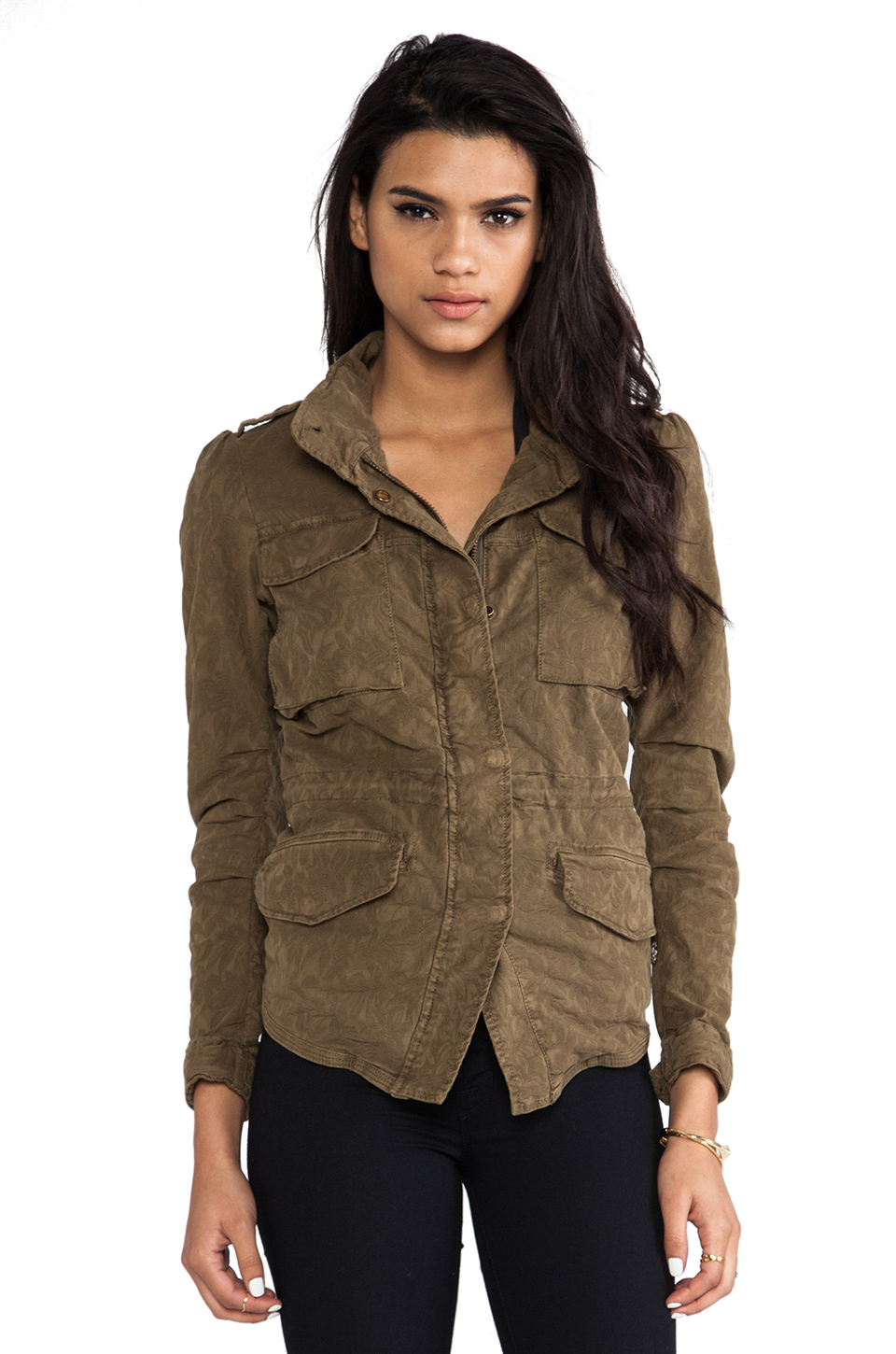 Maison scotch fitted military jacket in brown lyst for Atelier maison scotch