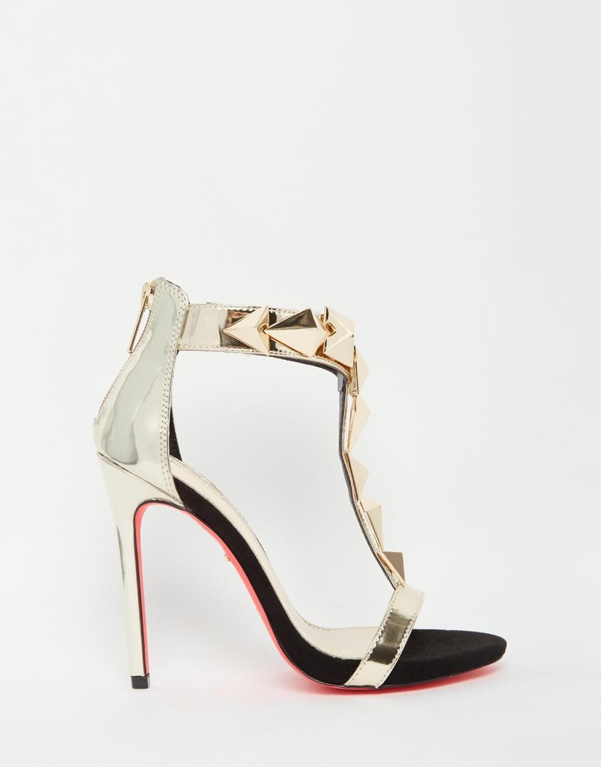 Black sandals gold heel - Gallery Women S Gold Sandals