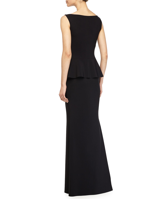 la petite robe di chiara boni mila peplum mermaid gown in black lyst. Black Bedroom Furniture Sets. Home Design Ideas