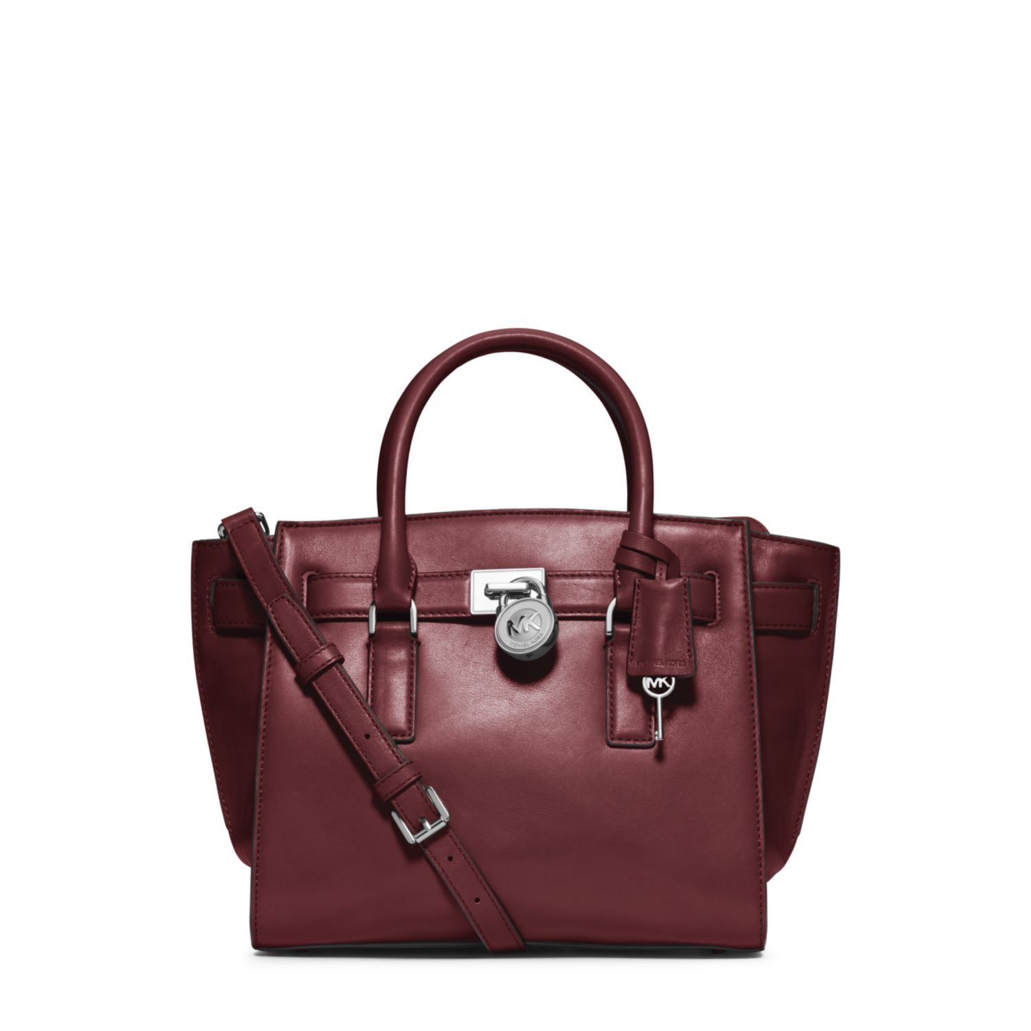 Michael Kors Hamilton Laukku : Michael kors hamilton traveler medium leather satchel in