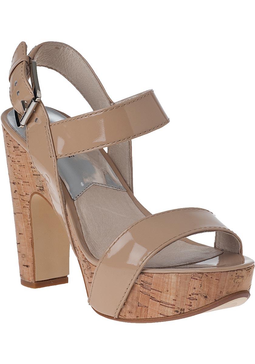 ed839b2599f Lyst - MICHAEL Michael Kors Ivana Patent-Leather Platform Sandals in ...