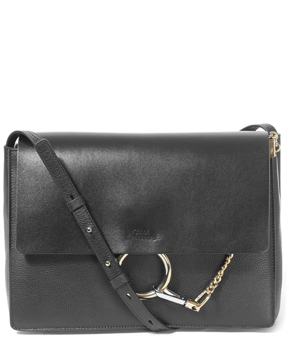 chloe tan leather handbag - chloe black medium new faye bag