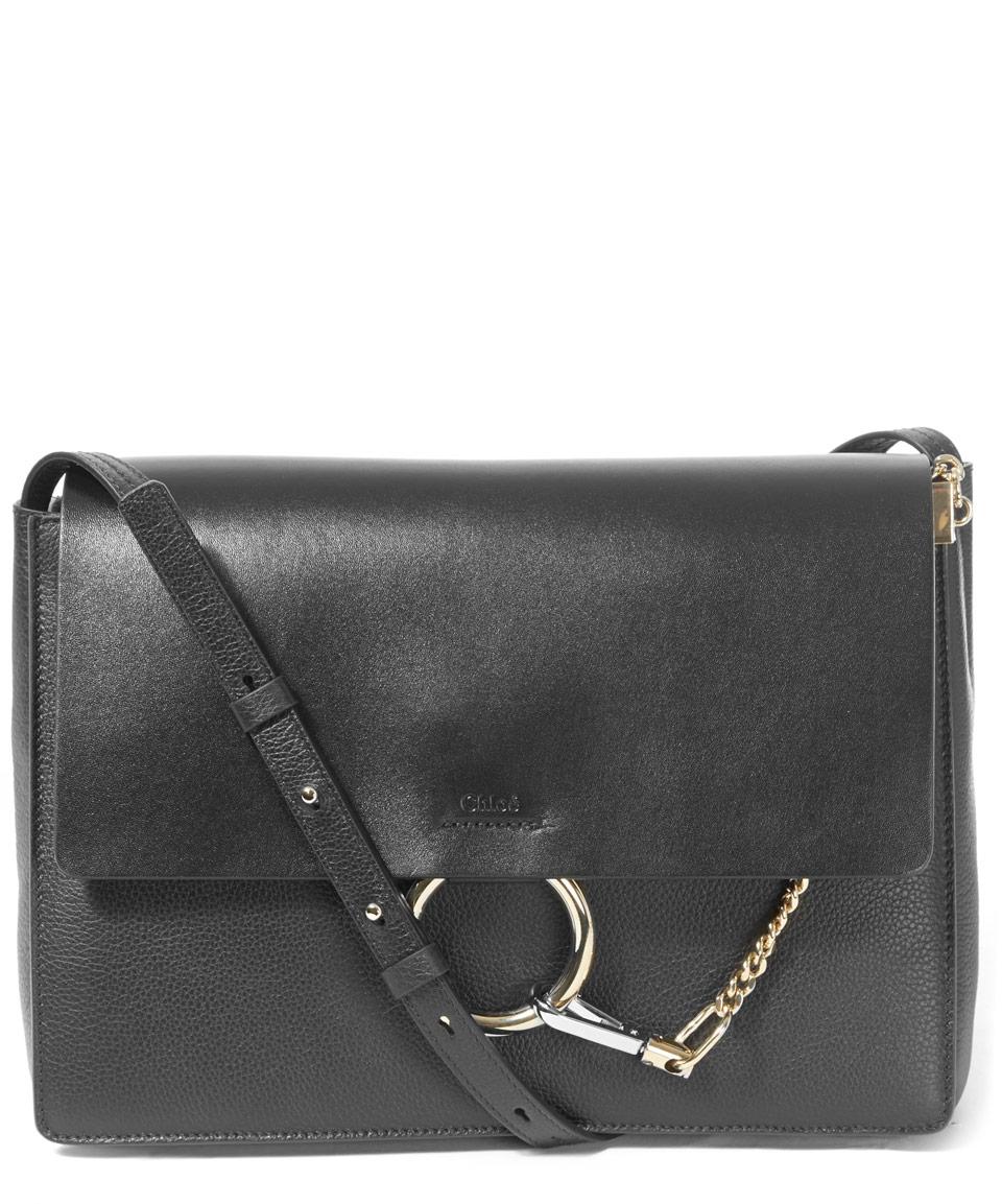 cloe purse - Chlo�� Medium Black Faye Leather Shoulder Bag in Black | Lyst