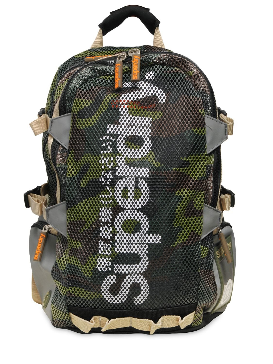 Lyst Superdry Camouflage Mesh Tarp Backpack In Green For Men