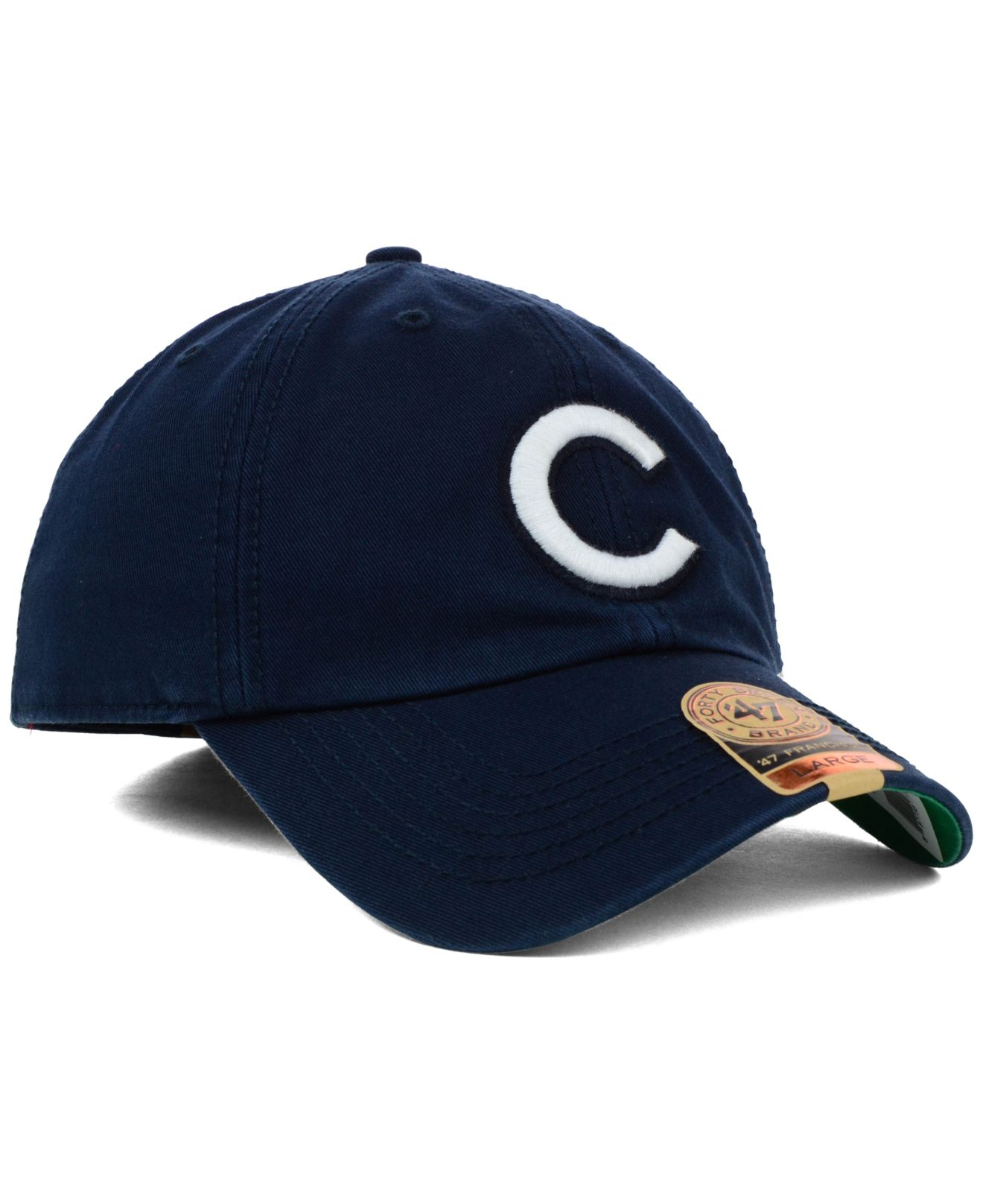 8b9cc4bf86c86 ... italy lyst 47 brand chicago cubs mlb harbor franchise cap in blue for  men f6a0d 362b6
