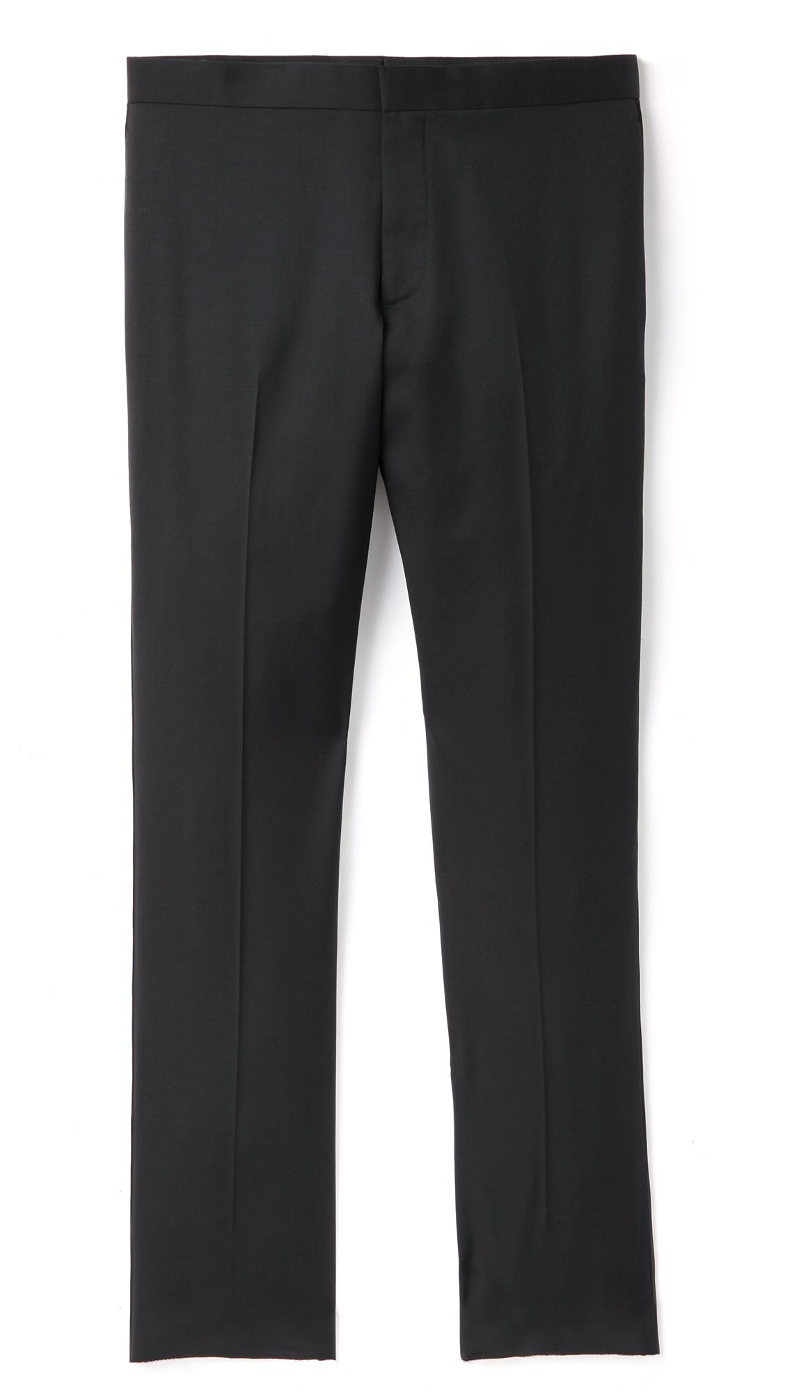 Theory Marlo Tuxedo Pants In Black For Men Lyst