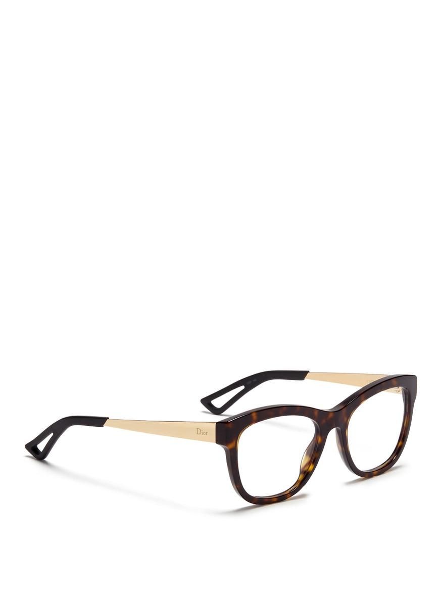 Dior Metal Eyeglass Frames : Dior Metal Temple Tortoiseshell Acetate Optical Glasses in ...