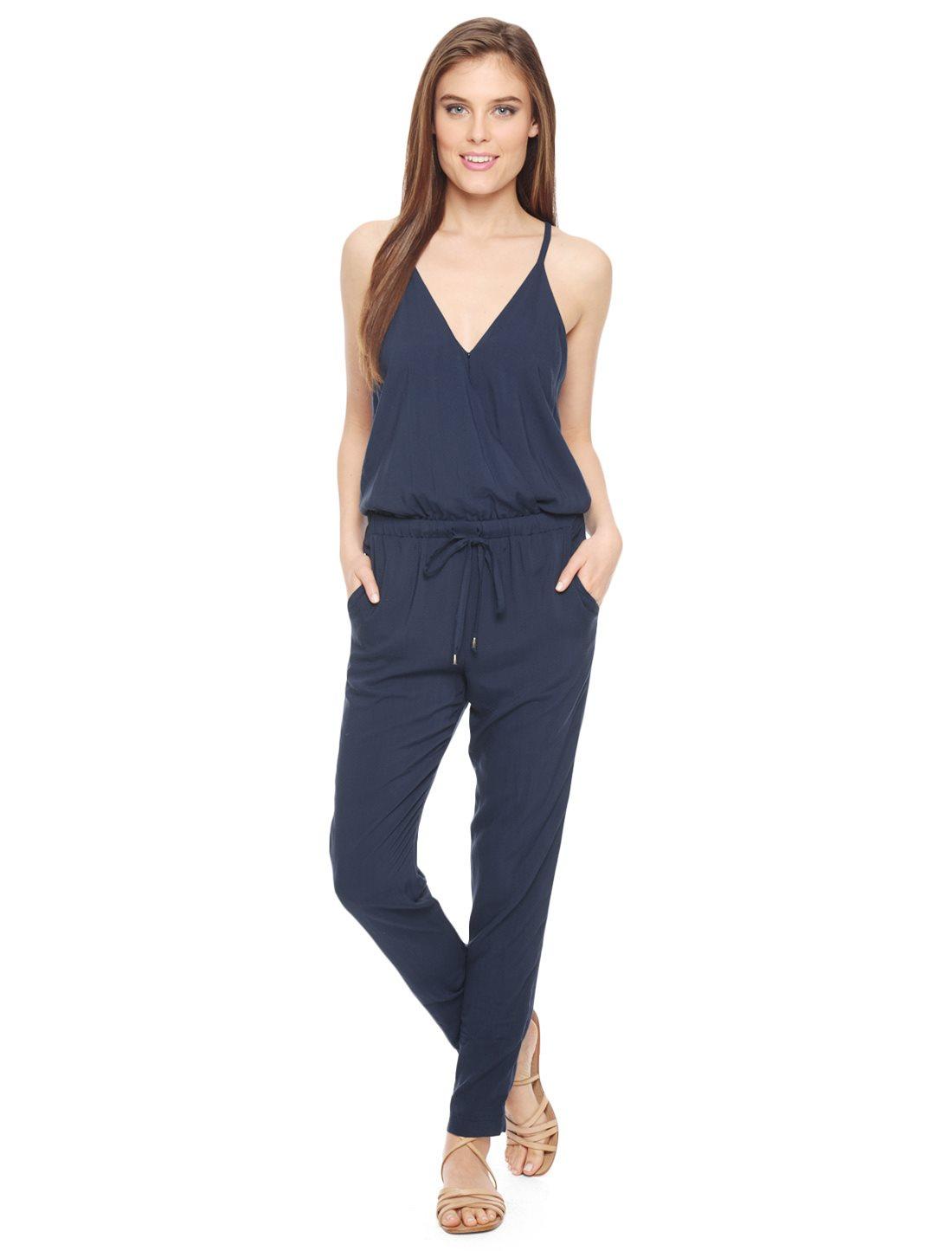 75551afa018b Lyst - Splendid Rayon Voile Jumpsuit in Blue