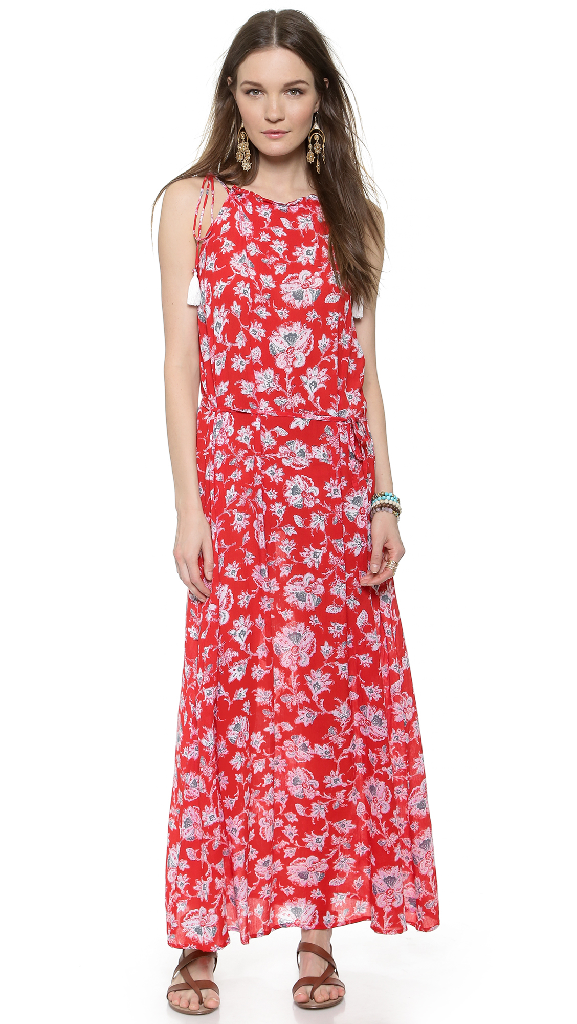 9c2bbcb81210 Lyst - Faithfull The Brand Getaway Maxi Dress - Summer Dreams Print ...
