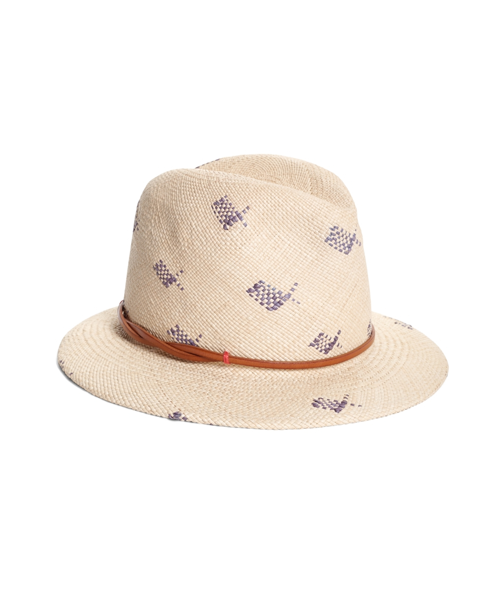 883ad20a25b Brooks Brothers Straw Fedora in Natural - Lyst