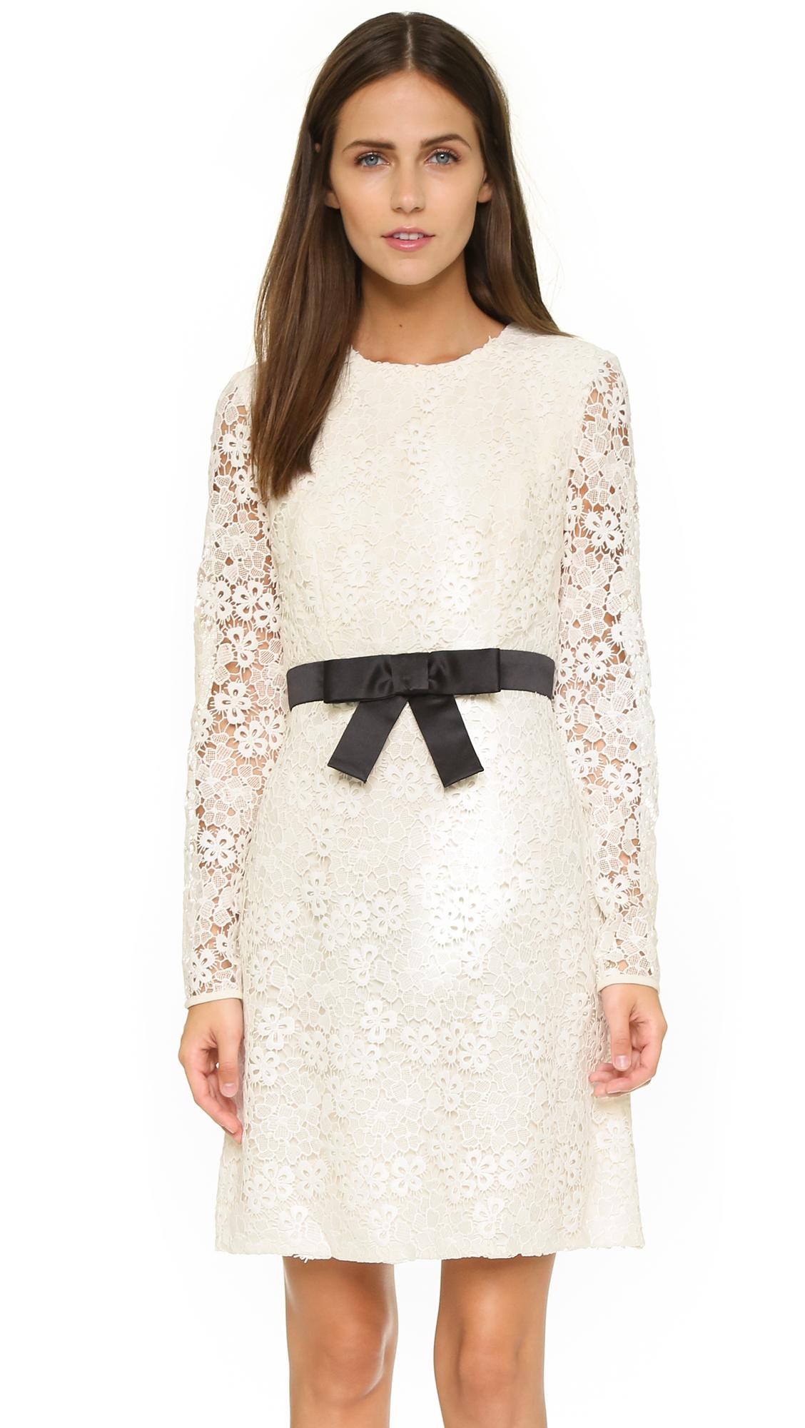 26632f9ec06b Lyst - JILL Jill Stuart Long Sleeve Lace Dress in White