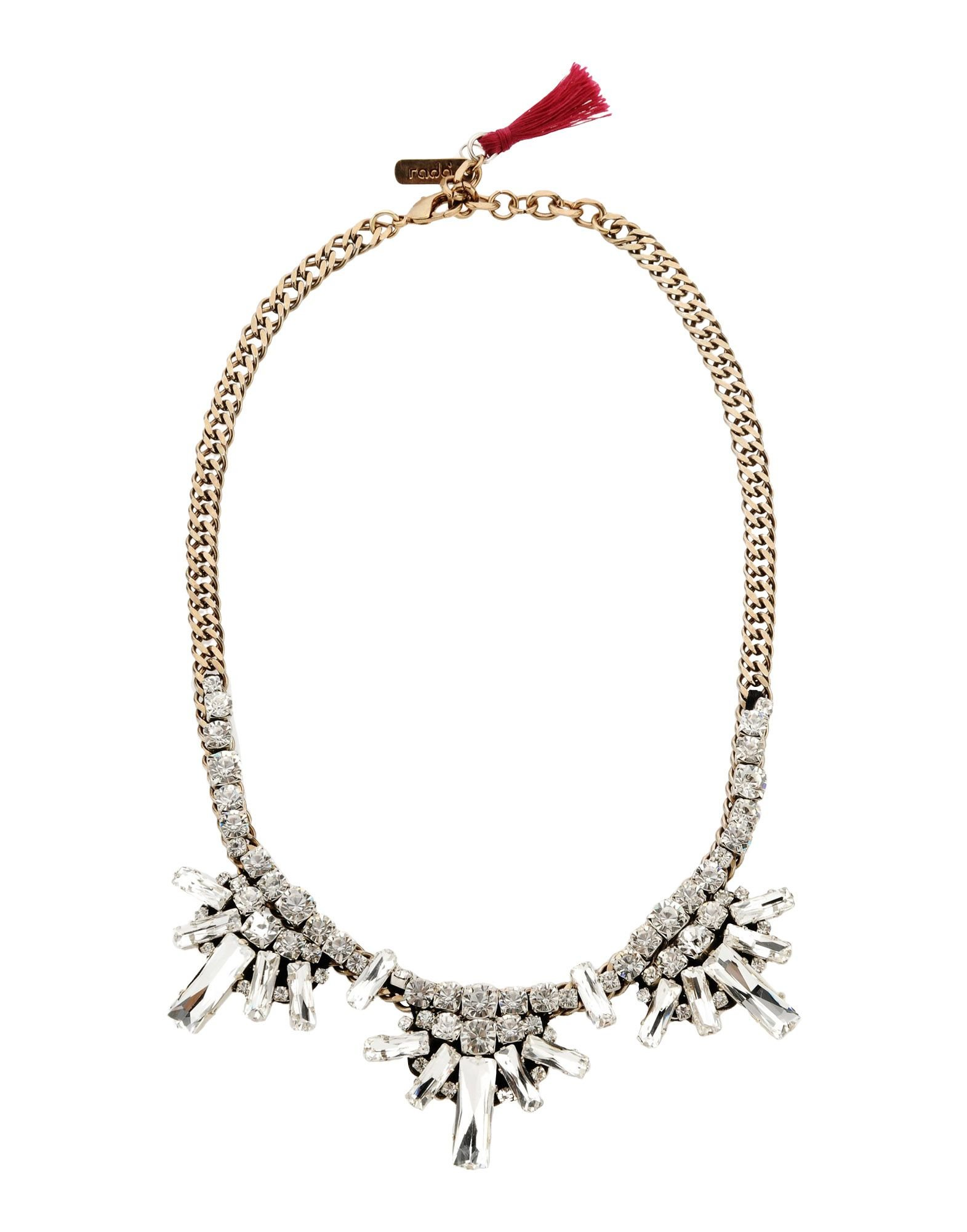 Rada embellished bead necklace - White