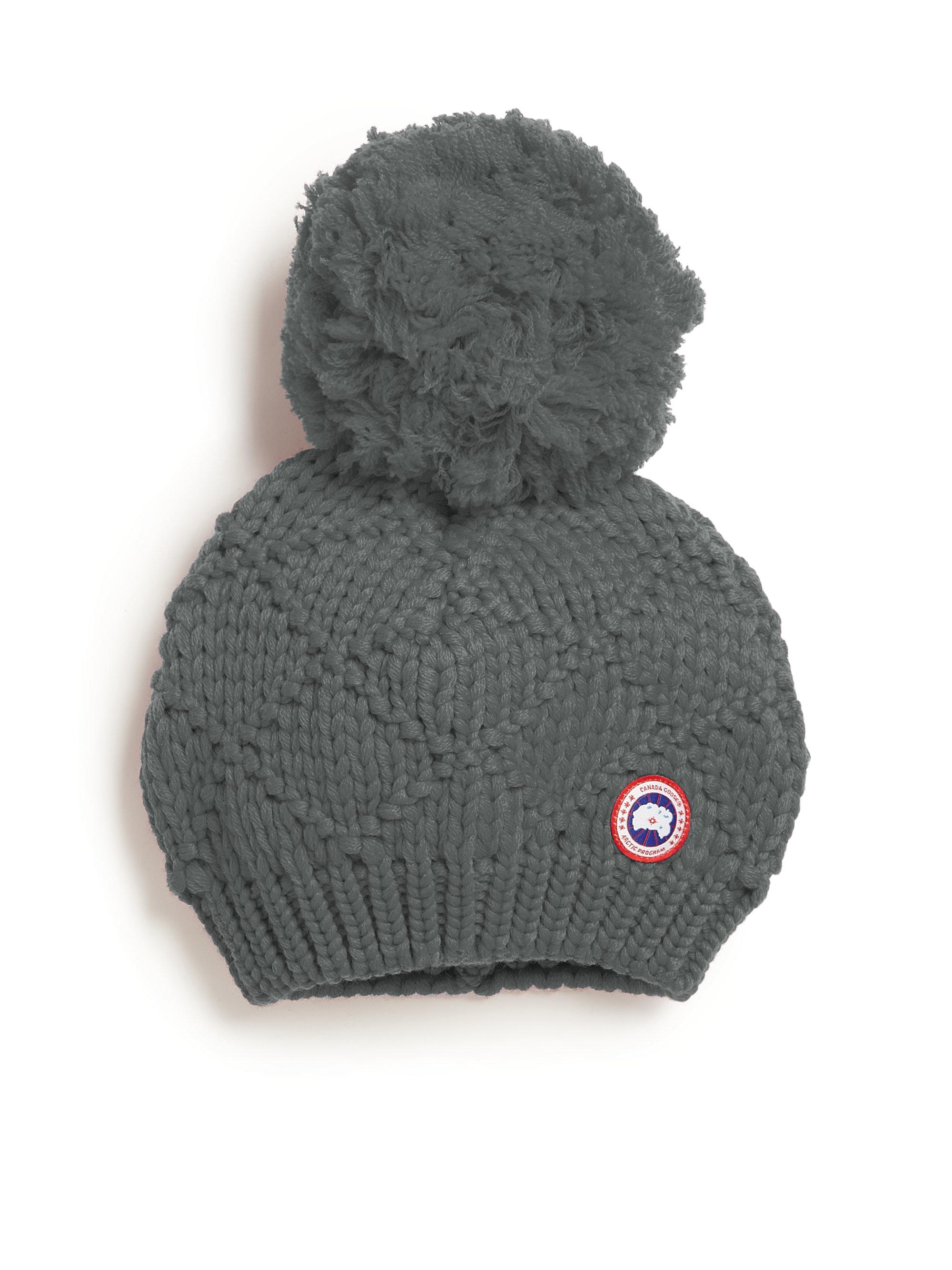 237d509f3dd canada goose hat with fur pom pom