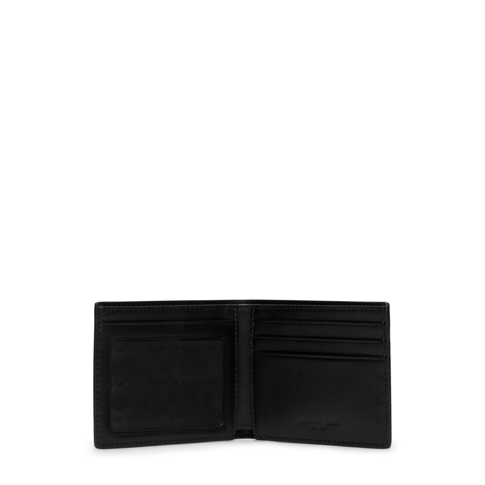 fafa59088a32 Lyst - Michael Kors Jet Set Logo Id Billfold Wallet in Black for Men