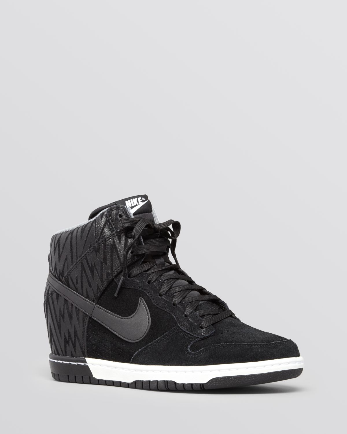 Lyst Nike Lace Up High Top Wedge Sneakers Womens Dunk Sky Hi In Black