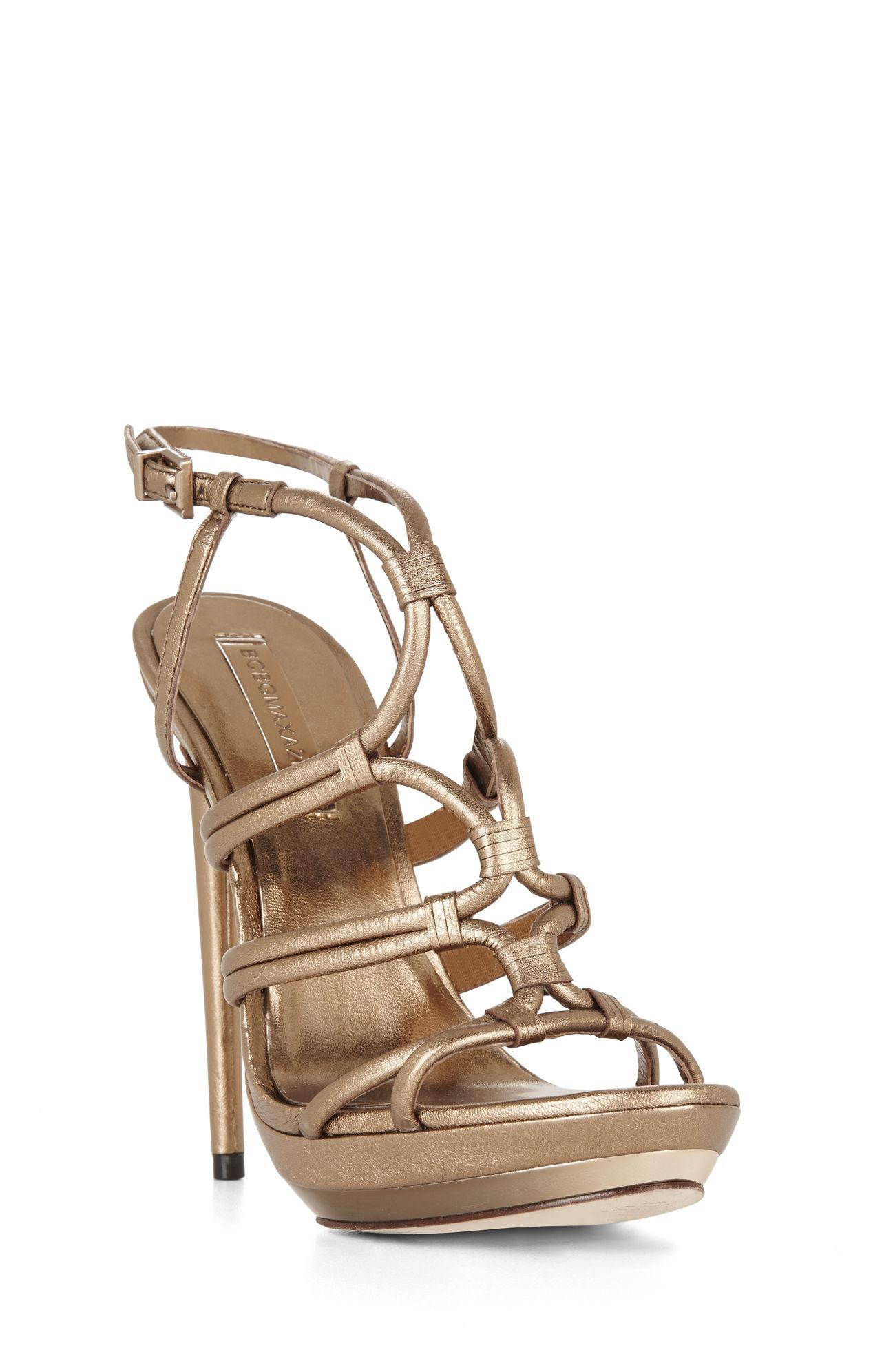 58c88c53019f3c Lyst - BCBGMAXAZRIA Farrow High-heel Strappy Dress Sandal in Brown