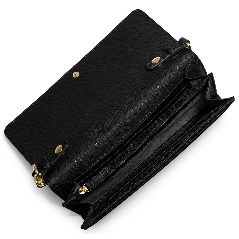 21175807b6d80 MICHAEL Michael Kors Jet Set Travel Saffiano Leather Chain Wallet in ...