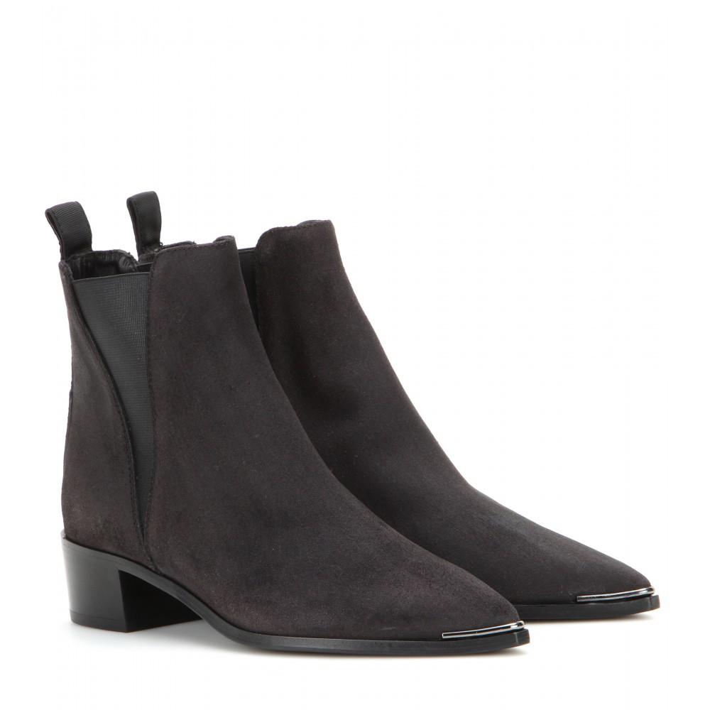 lyst acne studios jensen suede ankle boots in black. Black Bedroom Furniture Sets. Home Design Ideas