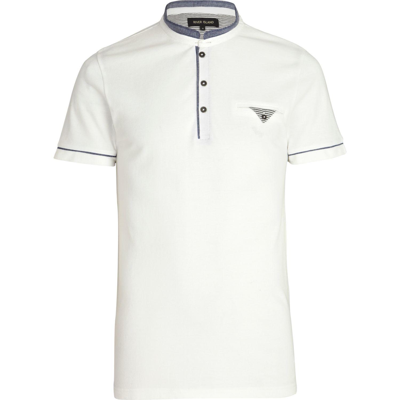 White Collar T Shirt Wholesale