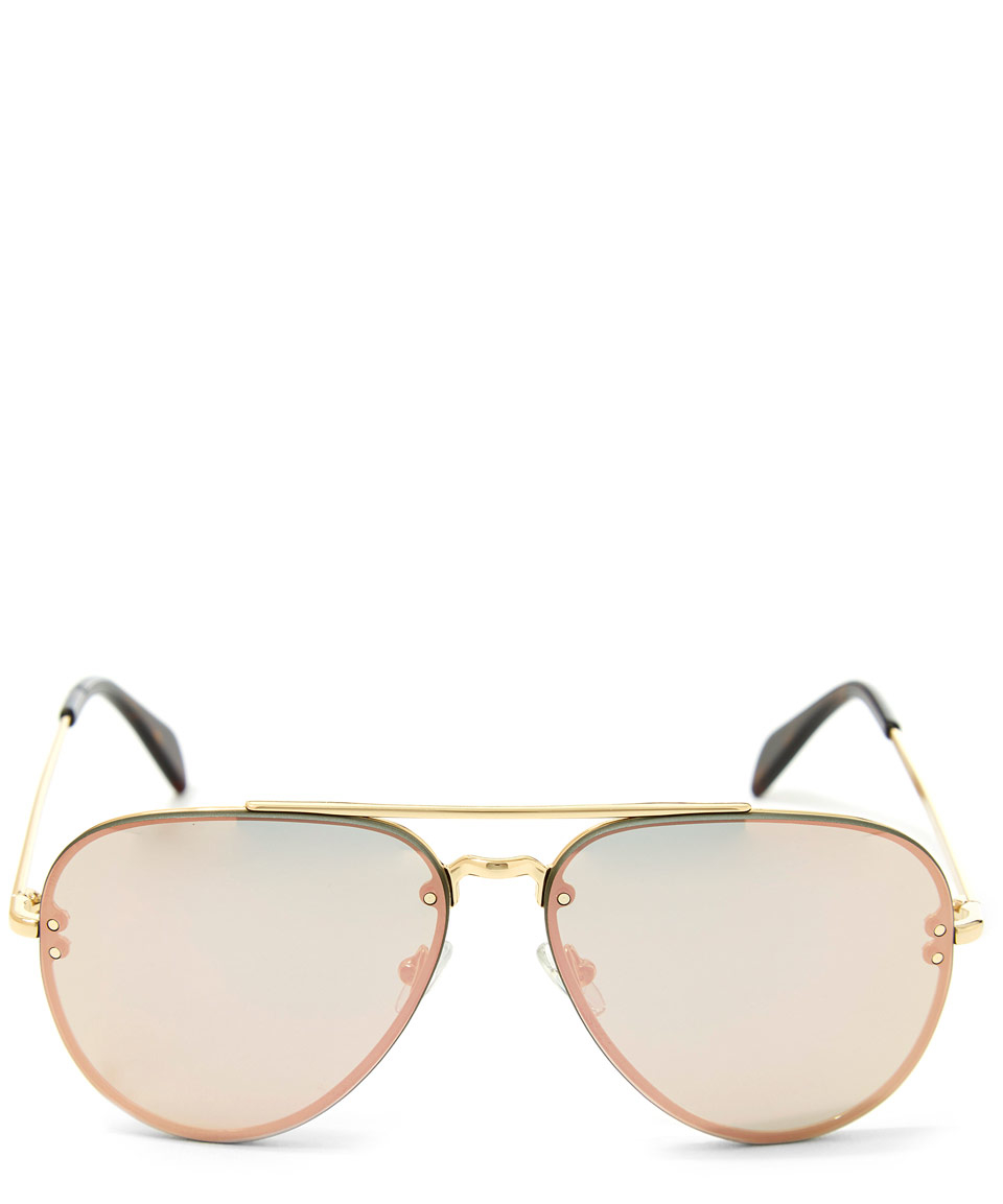 02e866249a Céline Gold Metal Aviator Sunglasses in Metallic - Lyst