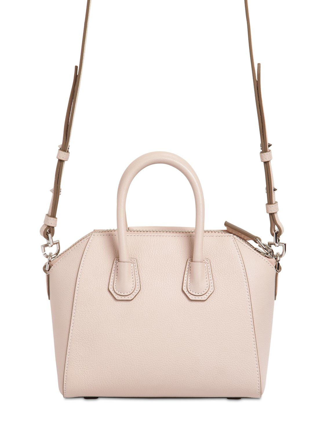 6d99470686 Lyst - Givenchy Mini Antigona Grained Leather Top Handle in Pink