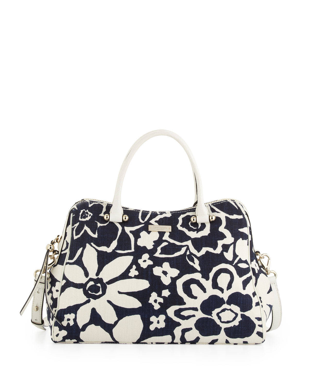Kate Spade Charles Street Audrey Floralprint Tote Bag French Navy In Blue (FRENCH NAVY) | Lyst