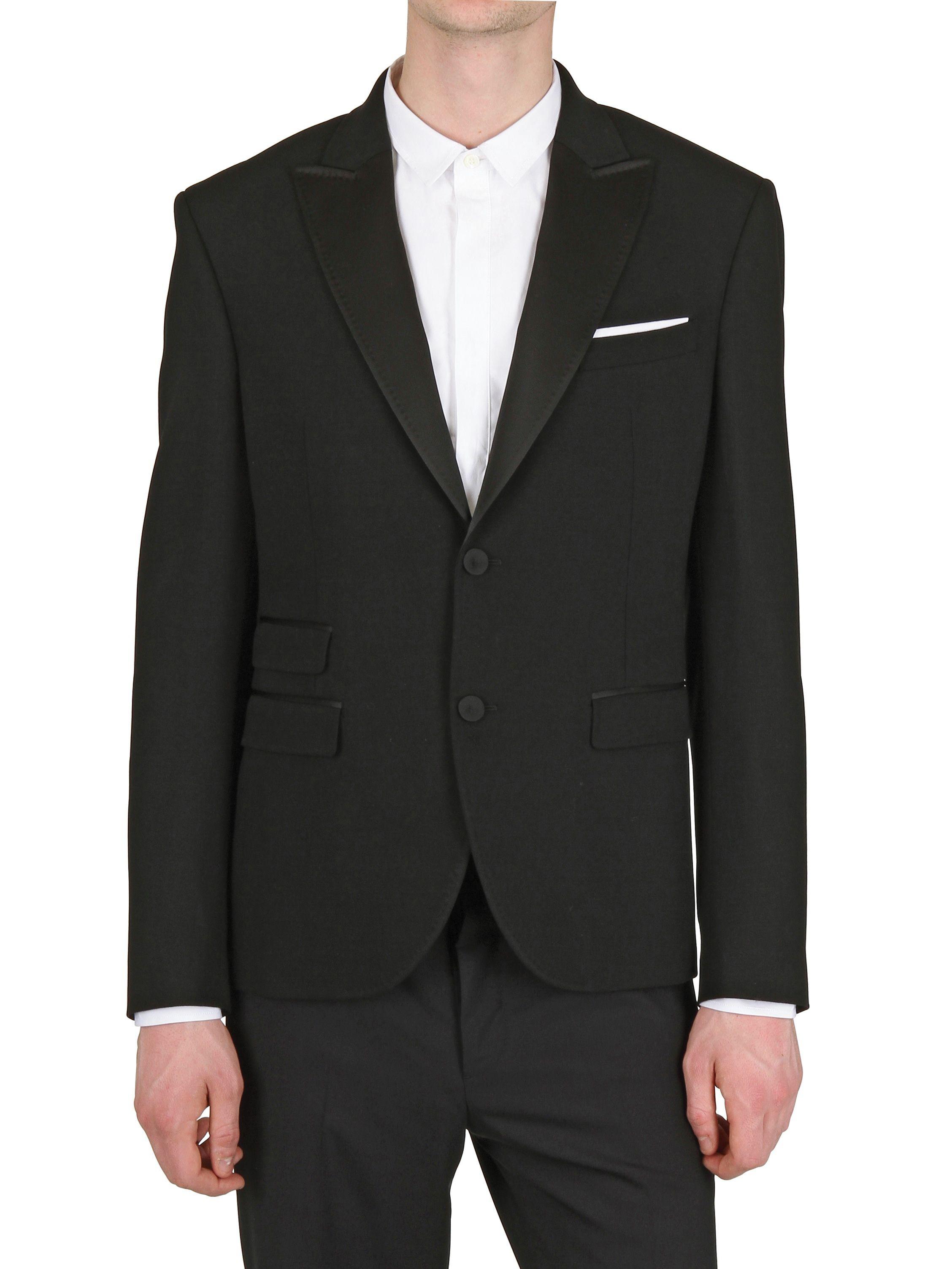 Neil barrett tuxedo wool crepe jacket in black for men lyst for Neil barrett tuxedo shirt