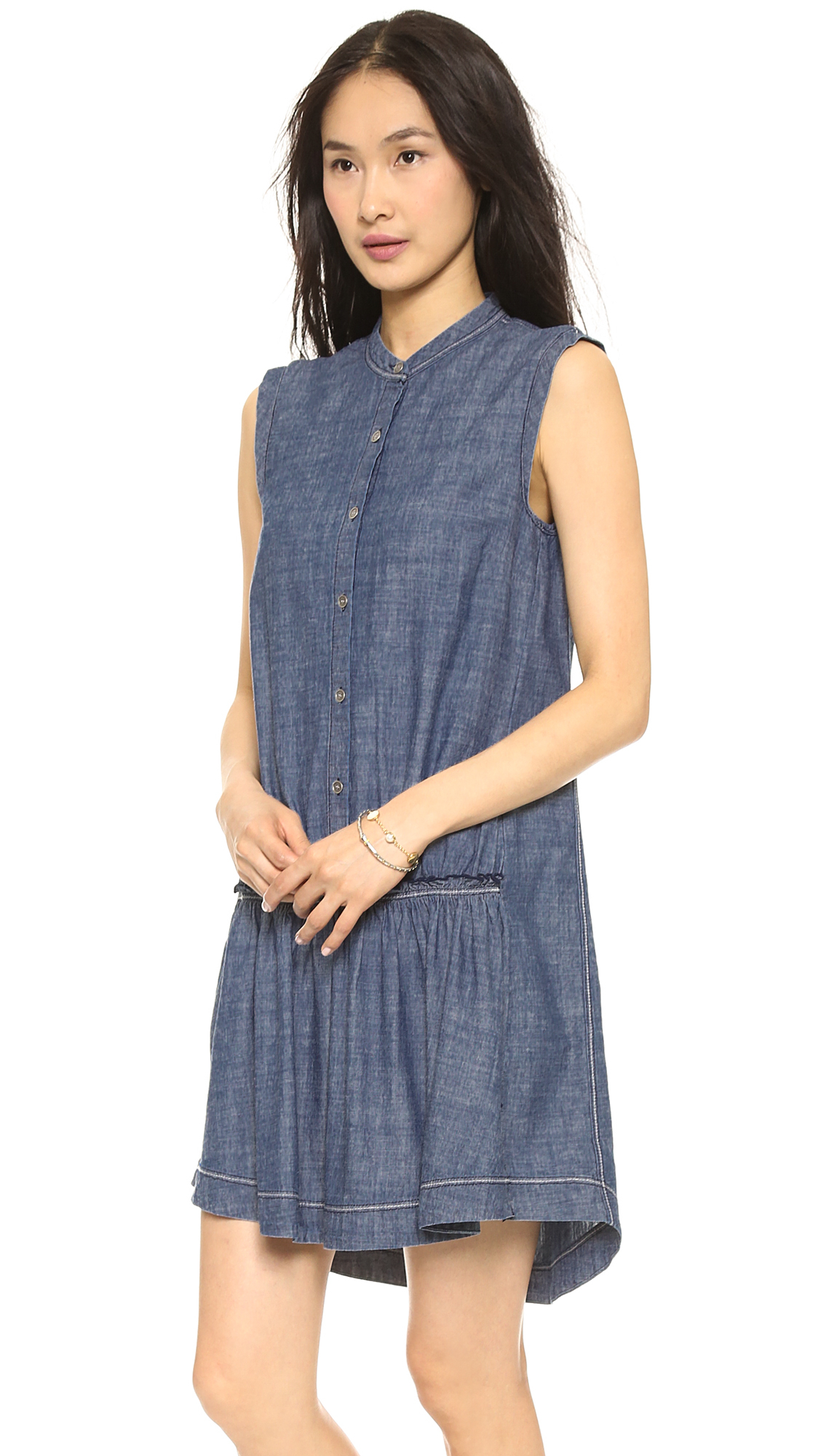 Lyst marc by marc jacobs lauren chambray dress light for Chambray dress