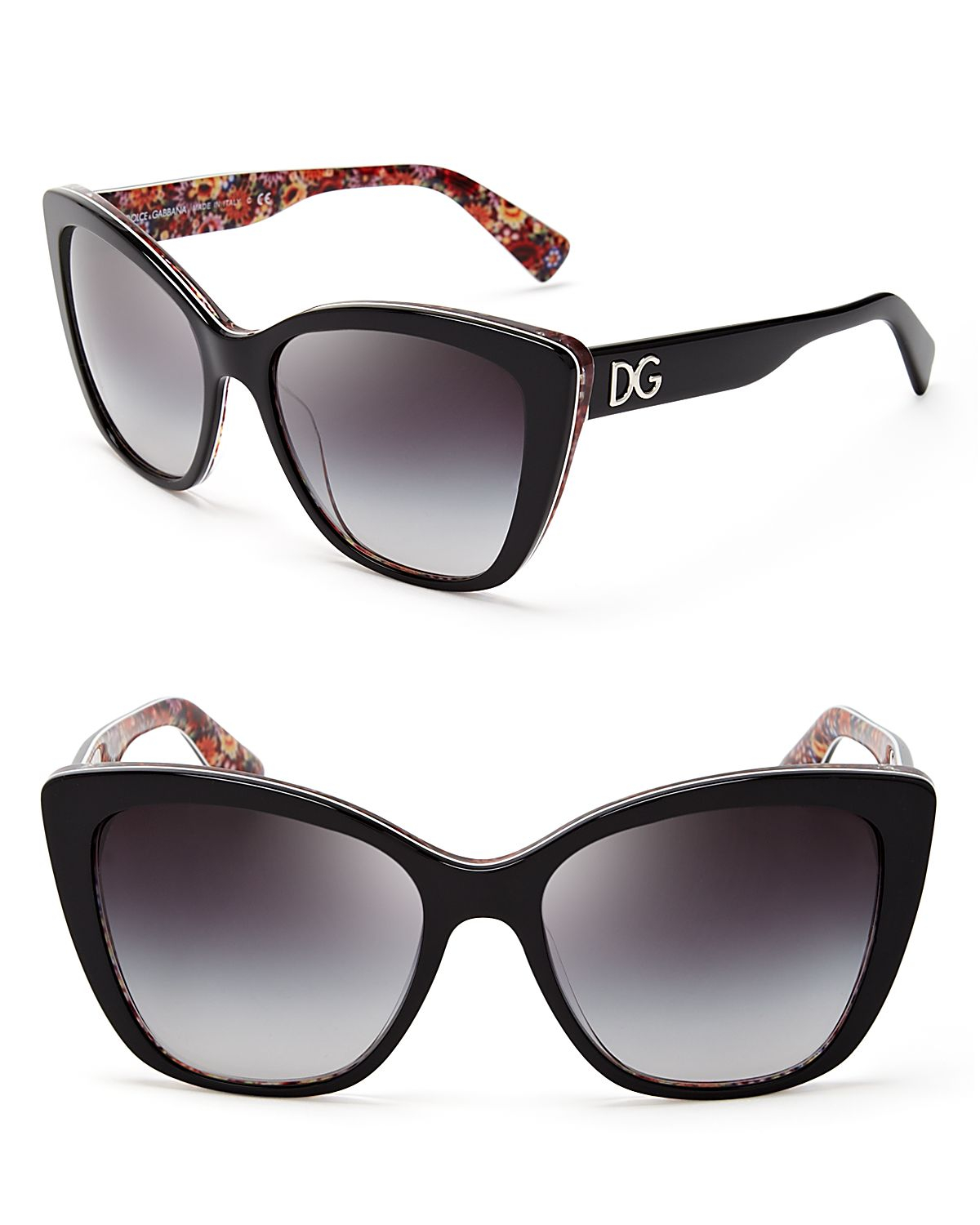 293fb6465910 Dolce   Gabbana Mosaic Cat Eye Sunglasses in Black - Lyst