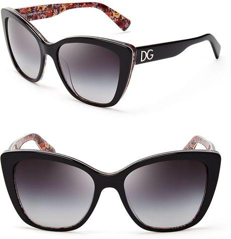f158115ef88 Dolce And Gabbana Oversized Cat Eye Sunglasses