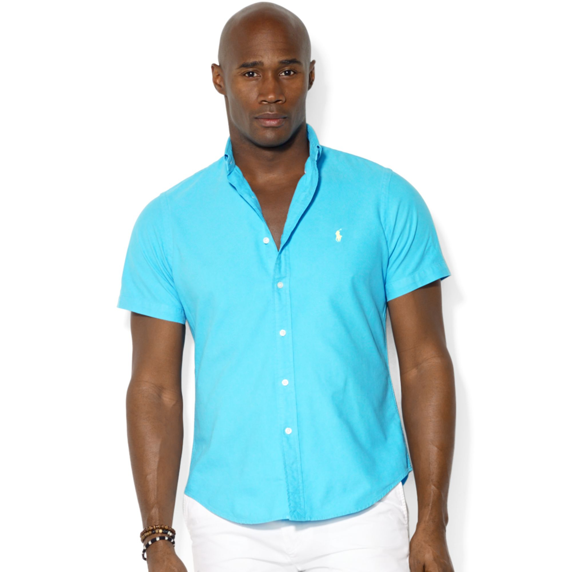 Ralph lauren polo big and tall solid surfwash oxford shirt for Big and tall oxford shirts