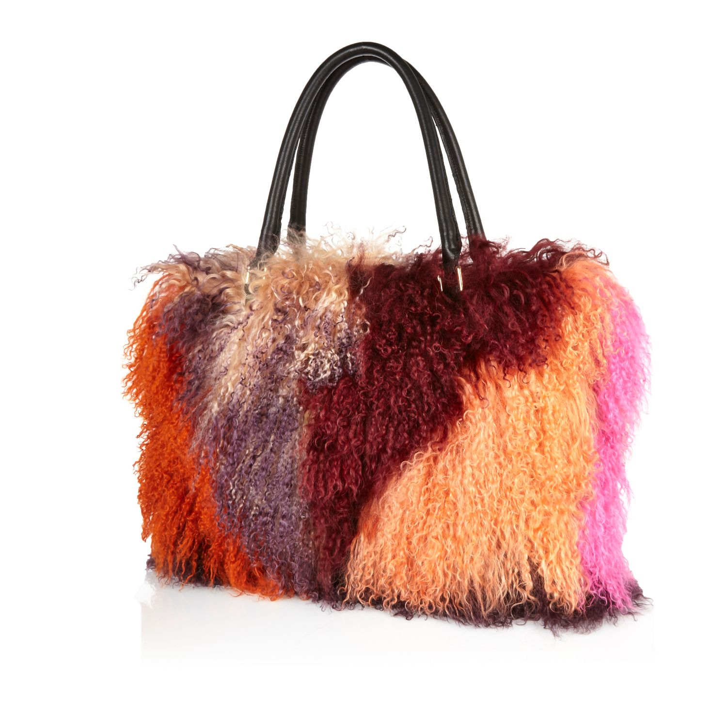 River Island Pink Mongolian Fur Handbag in Pink - Lyst 48653fe12a